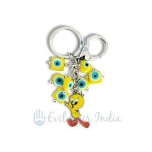 Evil Eye Key Chain With Tweety