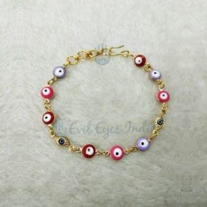 Delicate Evil Eye Setting Bracelet