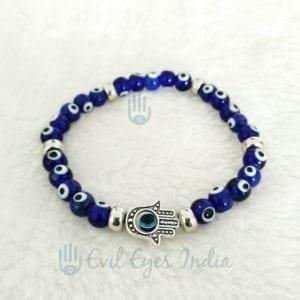 Evil Eye Bracelet With Hamsa Hand For Protection