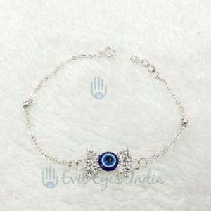 Evil Eye Bow Chained Bracelet For Protection