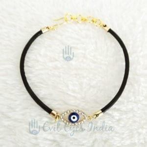 Evil Eye Leather String Bracelet