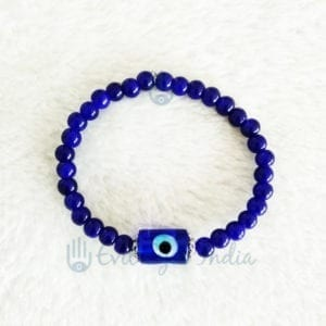 Evil Eye Bracelet With Authentic Blue Beads