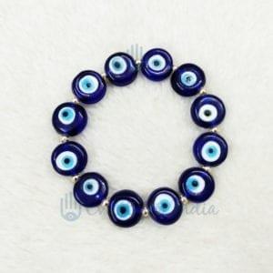 Round Authentic Blue Bead Bracelet for Unisex