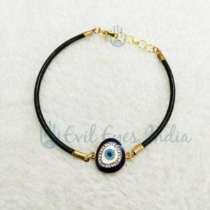 Pretty Evil Eye Leather Bracelet