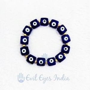Evil Eye Square Beads Bracelet For Protection