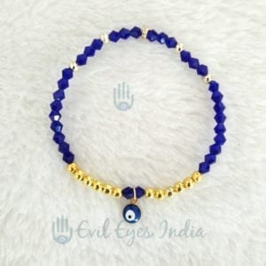 Evil Eye Drop Bracelet With Crystal