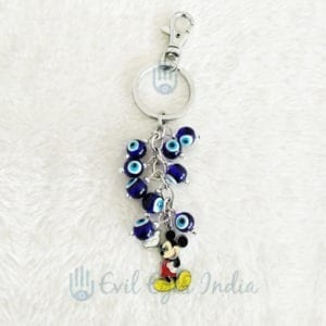 Evil Eye Key Chain With Mickey Mouse