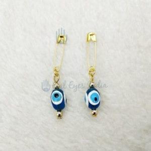 Evil Eye Safety Pins Pair