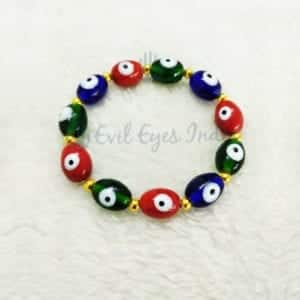 Multi- Colored Evil Eye Beads Bracelet For Protection,Good Luck And More