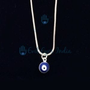 Cute Evil Eye Pendant With Silver Color Chain