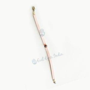 Pretty Pink Tiny Evil Eye Leather bracelet