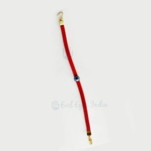 Bold Red Evil Eye Leather Bracelet
