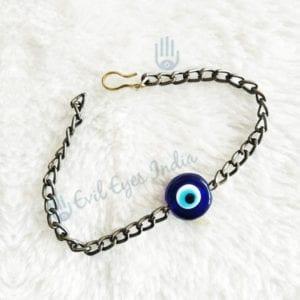 Round Bead Evil Eye Bracelet For Man