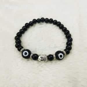 Evil Eye Bracelet For Men With Peace Buddha For Mental Peaceq